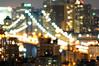 Manhattan Bridge at Night, New York City (itscashtro) Tags: aerial rooftop roof longexposure lowereastside cityscape night manhattanbridge manhattan nyc newyorkcity nikkor70300mm nikoncapturenx nikond90