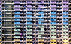 Rainbow estate in Hong Kong (アキラChacky) Tags: rainbow estate building patt color colorful hongkong hongkongisland asia city cityscape architecture blocks pattern china residential architect travel traveler 2017 explore explored cheese cheeses macromondays monday sunday