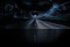 The Watcher II - On The Edge (rejophoto) Tags: skull clouds mist road abyss edge fantasy feelings moonlight shadows dark blue