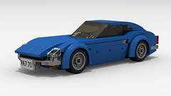 Datsun 240Z (LegoGuyTom) Tags: datsun nissan z 240z classic vintage straight6 japanese japan car cars engine 1970s 1960s speed speedster sport sports special lego legos ldd city legocity legodigitaldesigner digital designer dropbox download pov povray lxf