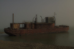 Alone in the Arctic (blkwolf1017) Tags: ship boat rust ocean sea beaufortsea arctic alaska old history alone mist