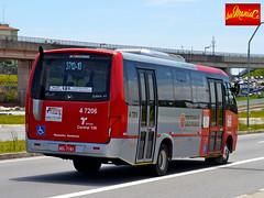 4 7206 Pêssego Transportes (busManíaCo) Tags: busmaníaco nikond3100 ônibus leste amarelo vermelho branco prata 4 7206 pêssego transportes volare w9 fly agrale