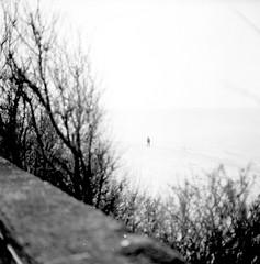 84_man (tigraboris) Tags: bw blackandwhite blackwhite beach kaliningrad rest holiday russia road sea yashicamat yashica yashicamat124 mylife ilford film middle medium mf