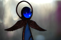 Macro Mondays: Inspired by a Song / Massive Attack: Angel (kinaaction) Tags: macromondays inspiredbyasong angel sonyilce6000 blue halo stainedglass bokeh macro massiveattackangel massiveattack