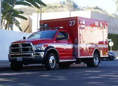 Rescue 27. (Monrovia1) Tags: dodge ram lafd ambulance hollywood firestation27 taskforce27 paramedic lfd losangelesfd losangelesfiredept lacityfd class1 ra27 rescueambulance rescue27