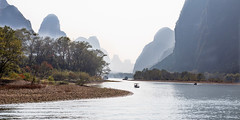 Bend (GavinZ) Tags: china lijiang yangshuo river water bend landscape asia mountains trees boat 中国 广西