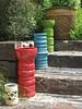 Garden art (neil.bather@xtra.co.nz) Tags: art taupo garden new zealand colour pots pottery steps