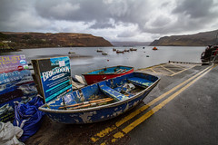 Brigadoon (the CAMera of ian CAMpbell; simple) Tags: brigadoon skye scotland portree boat water sky bay trip