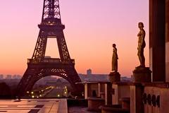 Eiffel Tower at Dawn (Barry O Carroll Photography) Tags: eiffeltower toureiffel trocadero palaischaillot goldenstatues silhouette monument dawn morning city cityscape urbanlandscape architecture travel