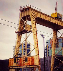 The Gantry (creepingvinesimages) Tags: thegantryatzidellyards gantry rust yellow willametteriver portland oregon samsunggalaxys7 snapseed pse14 topaz adjust outdoors