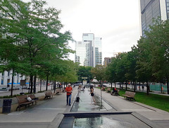 Square Victoria, Montreal, 2016 (Exile on Ontario St) Tags: square victoria fontaine fountain water photograph model photographe modèle photography photographie squarevictoria vieux old montréal vieuxmontréal oldmontreal senior equipment middle aged skyline skyscrapers short montreal man young woman été teenager teen splash splashing summer girl bench benches miniskirt minijupe modelling modeling parc park barefoot barefooted espace skirt robe vert photographier photographing victoriasquare