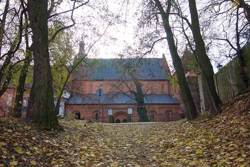 Kościół dominikański św. Jakuba w Sandomierzu od północy