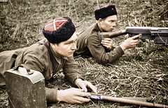 Soviet cossacks with PTRS-41 (Za Rodinu) Tags: world 2 man men history vintage soldier war gun russia military rifle rifles front german weapon ww2 soldiers historical guns 1942 1945 rare troops 1944 1943