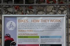 Bikes how they work (Benny Hnersen) Tags: mountain holiday sign work bikes greece biking they how griechenland skilt ferie sivota schildt syvota 2015 augsut grkenland