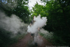 Lost in the Woods (Mateusz Pastula) Tags: forest rebel woods pennsylvania smoke nowhere young firework pa grenade reckless