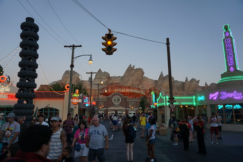 "Cars Land at Dusk • <a style=""font-size:0.8em;"" href=""http://www.flickr.com/photos/28558260@N04/20501848998/"" target=""_blank"">View on Flickr</a>"