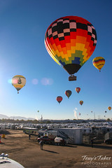 Balloons over the RV park