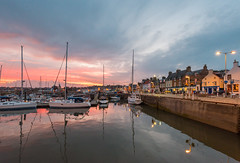 Ainster Harbour Sunset