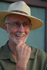 Enjoying his time (radargeek) Tags: hat glasses downtown florida tourist fl fortmyers