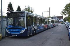 Stagecoach West 36394 VU11BUA (Will Swain) Tags: uk travel england west bus buses town britain garage centre transport gloucestershire september depot seen spa cheltenham stagecoach 17th 2015 36394 vu11bua