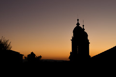 The last sunset of summer (myxelloss) Tags: santiago sunset sky espaa tower contraluz landscape atardecer spain cityscape paisaje galicia santiagodecompostela es backlighting monumental