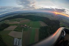 Sunrise over the fields (schoeband) Tags: sunrise schweiz switzerland suisse earlymorning bern svizzera aerialphotography ballooning ch hotairballooning heissluftballon ballonfahren grafenried