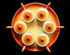 ramekins (HansHolt) Tags: camera orange holland macro netherlands sphinx canon circle ceramic maastricht handle nederland round six tabletop bord lid oranje lidded ramekin cirkel 6d rond zes schaal deksel ceramicbowl potjes handvat canonef24105mmf4lisusm ovenware pannetje canoneos6d parafeu pasteibakje ovenpotje soufflébakje