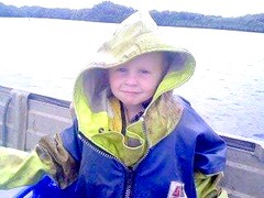 Elseha Neilly's son Owen in his dads stormline jacket on the beautiful macleay river. He will be a 6th generation commercial fisherman. A great legacy!