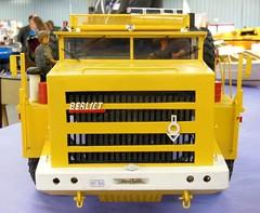 BERLIET GXO Ptrolier Saharien (Maquette scratch) (xavnco2) Tags: show france yellow jaune truck model lorry camion salon trucks nord oilfield maquette lkw berliet autocarro 2015 ptrolier modlisme maubeuge heavyhaulage saharien gxo