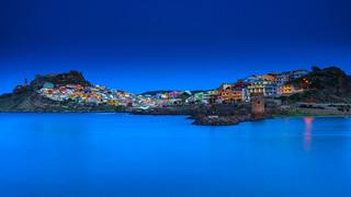 Casteddu Sardu/ Castelsardo in blue