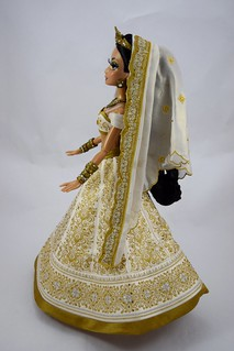 Limited Edition Aladdin and Jasmine 17'' Wedding Doll Set - Disney Store Purchase - Jasmine Deboxed - Standing - Full Right Side View