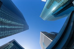 Skyscraper Shiodome (Yusukiy) Tags: sony sigma15mmf28exdgdiagonalfisheye sony7 sony7ilce7 7ilce7