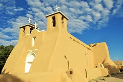 The Mission Church at Rancho de Taos (Patricia Henschen) Tags: newmexico church clouds catholic adobe mission taos worldheritage ranchosdetaos sanfranciscodeasis taosnewmexico nationalregisterofhistoricplaces