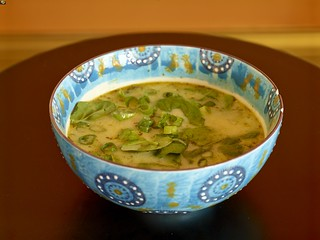 Peruvian Chicken Soup with chili and lime