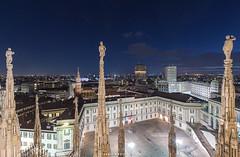 Milano (Alessio Mesiano) Tags: city skyline night buildings cathedral milano duomo