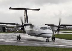 SX-BIR Olympic Air Dash 8 Q102A @ Exeter Airport, Devon. (Sw Aviation) Tags: airport air 8 devon dash exeter olympic sxbir q102a