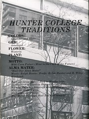 Hunter College Traditions (Hunter College Archives) Tags: plant flower history colors 1987 yearbook ivy motto hunter amethyst wisteria gem huntercollege almamater lavendarandwhite mihicurafuturi wistarion thewistarion hailouralmamater