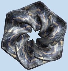 3 Tori /  (TANAKA Juuyoh ()) Tags: torus      mathematica 3d cg parametricplot3d texture code program algorithm abstruct graphic design pattern structure mapping figure                     symmetry
