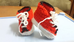 high top baby booties (H&G Collections) Tags: crochet babybooties