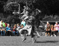 Ghost dancer (Mel's Looking Glass) Tags: ranch people festival beads dance native spirit indian feathers culture nativeamerican american chant powwow redhawk wimaumas