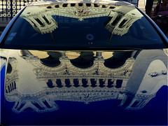 Notre Dame de Fourrire (stationnement abusif) (MAGGY L) Tags: church lyon voiture reflets basilique fourvire glises dmcfz200