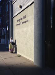 witness (Mr.  Mark) Tags: street light shadow woman toronto pose stand photo stock jehovahswitness markboucher
