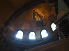 Hagia Sofia Church, begun 532 AD. Apse THEOTOKOS mosaic of Virgin and child. 2009. (Kevin J. Norman) Tags: hagiasofia istanbul turkey