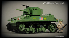 COBI M5A1 Stuart VI (Kobikowski) Tags: cobi lego toy zabawka stuart american amerykański czołg tank light lekki