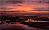 Westward Ho! Sunset Panoramic (Boba Fett3) Tags: sunset skyscape sky clouds beach coast coastline sea seaside seascape stones water sand panoramic photostitch reflections northdevon devon westcountry westwardho