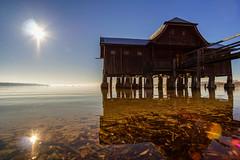 Bootshaus (jochen.bogomiehl) Tags: ammersee stegen bootshaus ruhe still lake quite colorful sony landscape sea