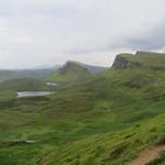 Vue dominante, les Quiraings,  péninsule de Trotternish, île de Skye, Ross and Cromarty, Highland, Ecosse, Royaume-Uni. thumbnail
