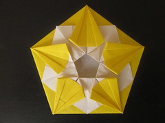 Pentagonal Coaster by Me (georigami) Tags: origami papiroflexia papel paper
