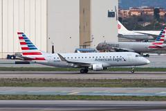 American Eagle (Compass Airlines) Embraer ERJ-175 N202NN (jbp274) Tags: lax klax airport airplanes cloudy americaneagle compassairlines compass cp embraer erj175 e175