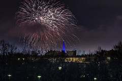 _MG_5249 WOSP 2017. (Sakuto) Tags: fireworks light night city poznan wosp landscape tower blue colors outdoor colorful poland sky